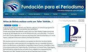 Fundación para el Periodismo - Taller Telekids