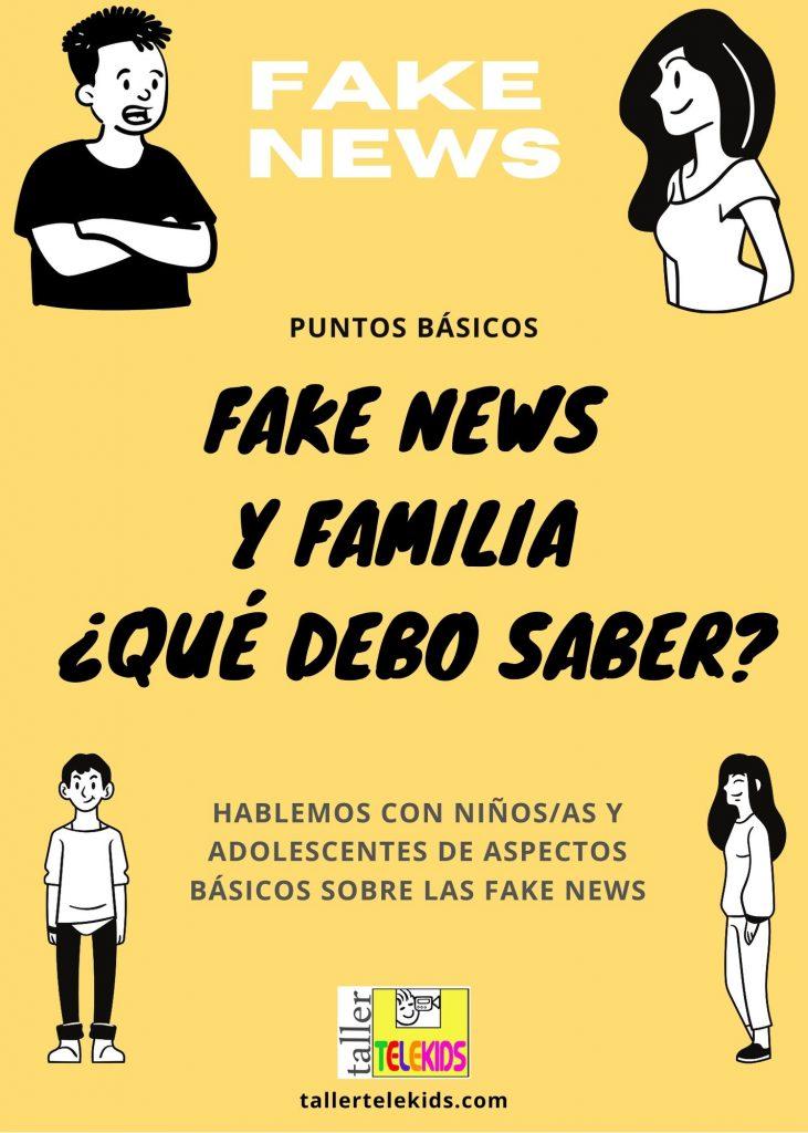 Taller Telekids Flyer Fake News y familia