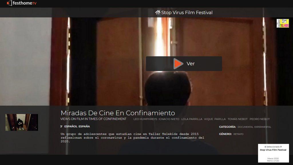 Taller Telekids en Stop Virus Film Festival 2020